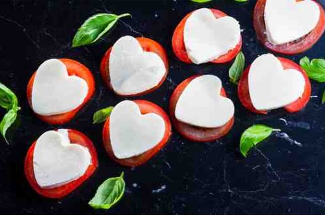 Insalata Caprese Valentine's DaySalad